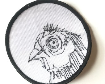 Punk Rock California Quail Bird Patch