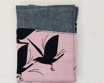 Organic Cotton Charley Harper Barkcloth Pocket Wallet