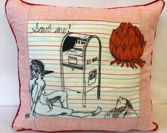 Save ME  Postal Pillow