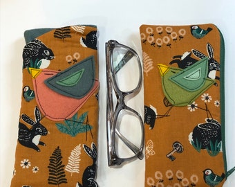 Organic Cotton Padded Fabric Eyeglass Case