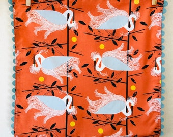 Rick Rack, Organic Cotton, Cloth Napkins, Charley Harper, egrets