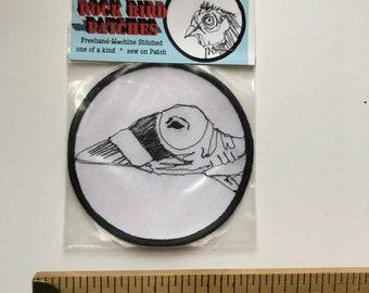 Punk Rock Canyon Wren Bird Patch