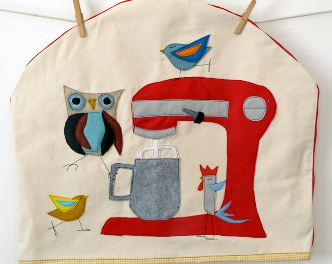 Featured listing image: Made to Order Felt Applique Delux Kitchen Aid Mixer Cover