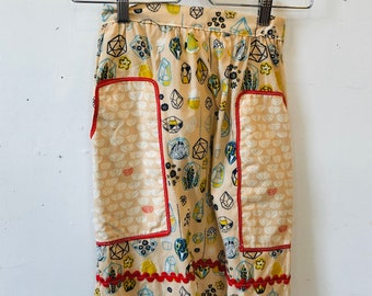 Organic Cotton Vintage Inspired Half Apron, gift idea