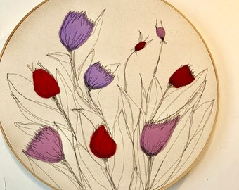 Thistle Hoop Art