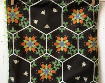 Rick Rack, Organic Cotton, Cloth Napkins, Charley Harper, hexi bears, bees
