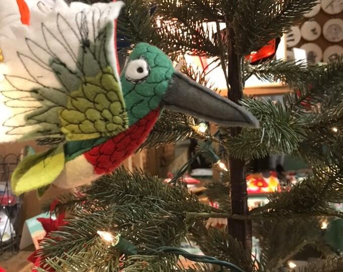 Featured listing image: Felt Hummingbird Ornament