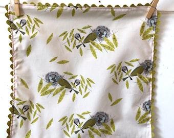 Rick Rack, Organic Cotton, Cloth Napkins, Charley Harper, vireos