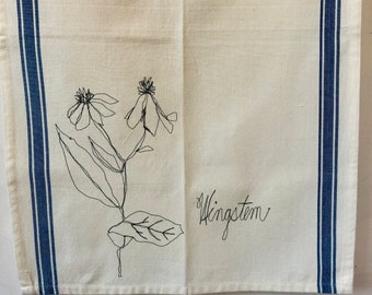 Wingate Freehand Machine Stitched Tea Towel,