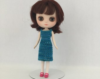 Middie Blythe doll Shirley Dress knitting PATTERN - strappy sundress sweater dress - instant download - permission to sell finished items