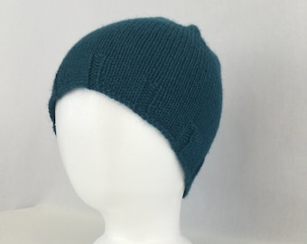 Luna Hat knitting PATTERN - simple stylish cozy knit stocking hat beanie toque in three adult sizes - permission to sell finished items