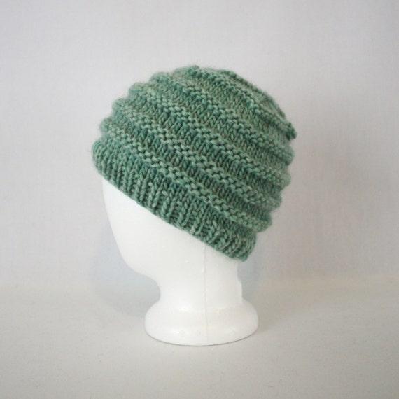 Rib Stripe Bulky Hat Knitting Pattern Three 3 Sizes Warm Etsy