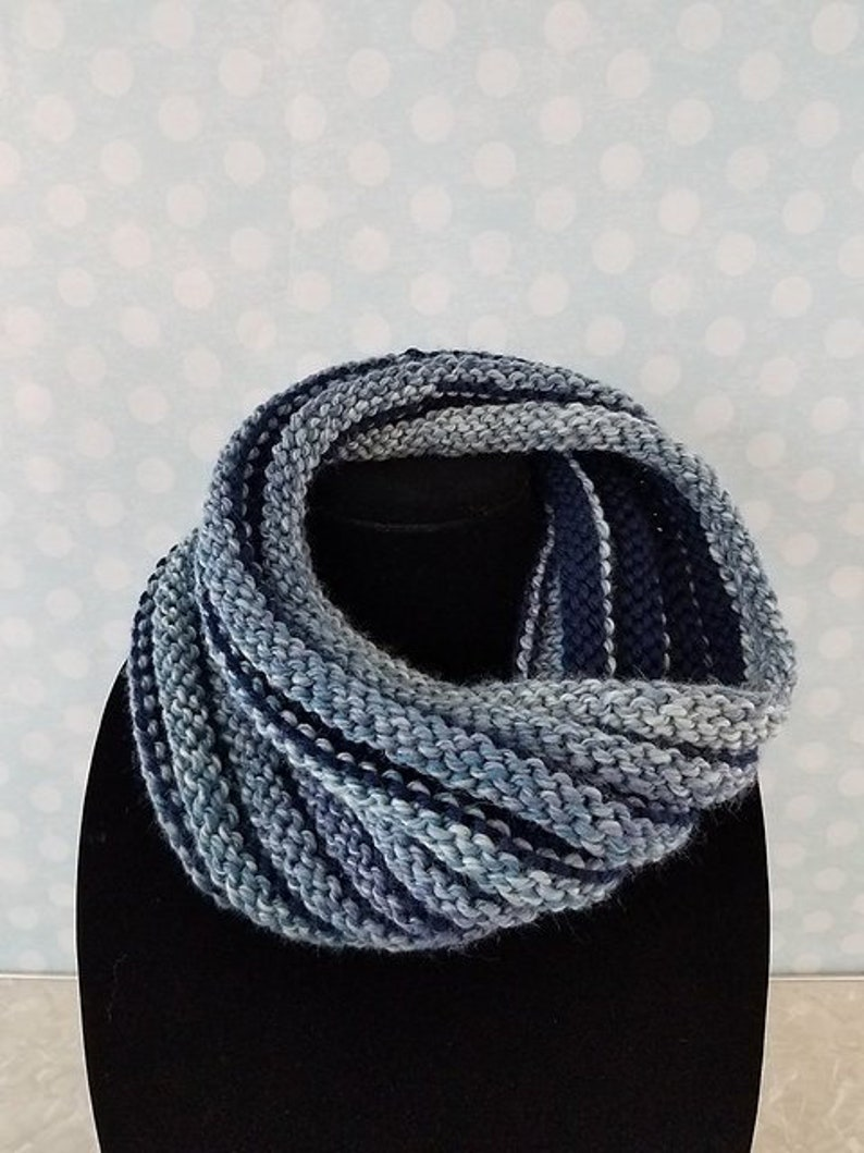 Queen Cowl knitting PATTERN warm bulky wide wale ribbed ...