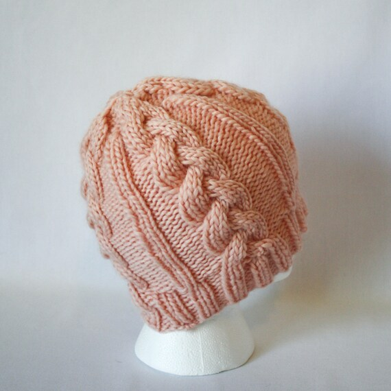 Cable Car Hat Knitting Pattern Warm Bulky Knit Cabled Cable Etsy