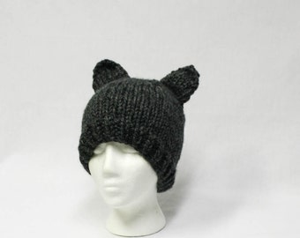 Super Bulky Animal Cosplay Fun Hat knitting PATTERN - super bulky knit cosplay animal stocking hat adult - permission to sell finished items