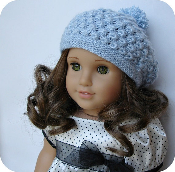 Rosamund Beret Pdf Knitting Pattern For 18 American Etsy