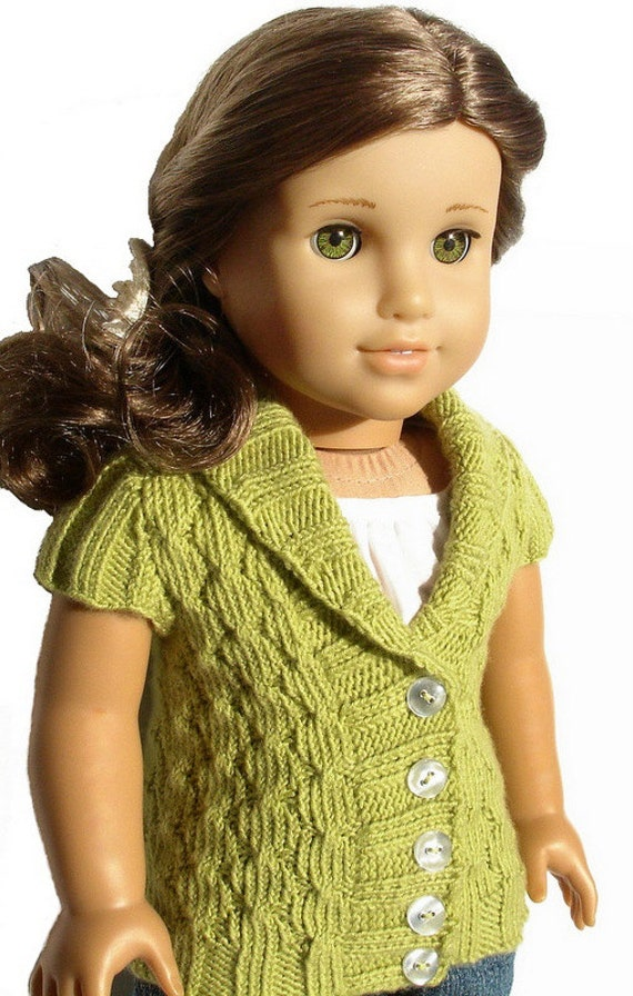 Olive Cardigan Sweater Knitting Pattern Pdf For 18 Etsy
