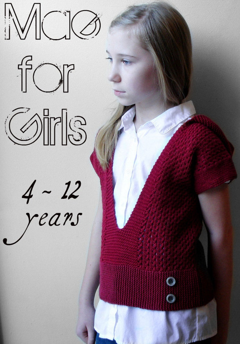 0fff8183e Mae For Girls Hooded Pullover Sweater PDF Knitting Pattern