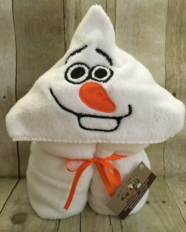 Snowman Hooded Bath Towel
