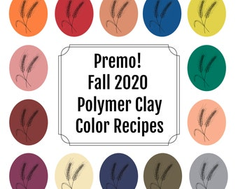 14 Premo Polymer Clay Color Recipes for Fall 2020, polymer clay color mixing recipes, polymer clay tutorial