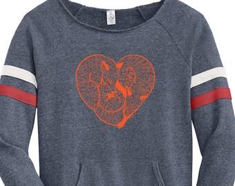 7411aaf9c Fox Womens Sweatshirt, Organic Cotton Sweatshirt, Graphic Sweatshirt, Fox  Shirt, Blue Sweatshirt, Wildlife Sweatshirt