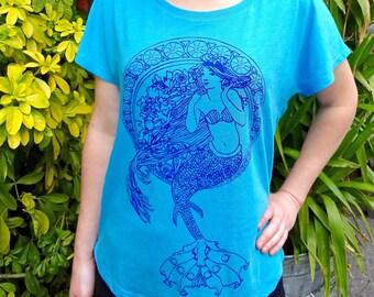 Women Mermaid Shirt, Mermaid T Shirt, Women T Shirt, Mermaid Graphic Tee, Women Plus Size T Shirt