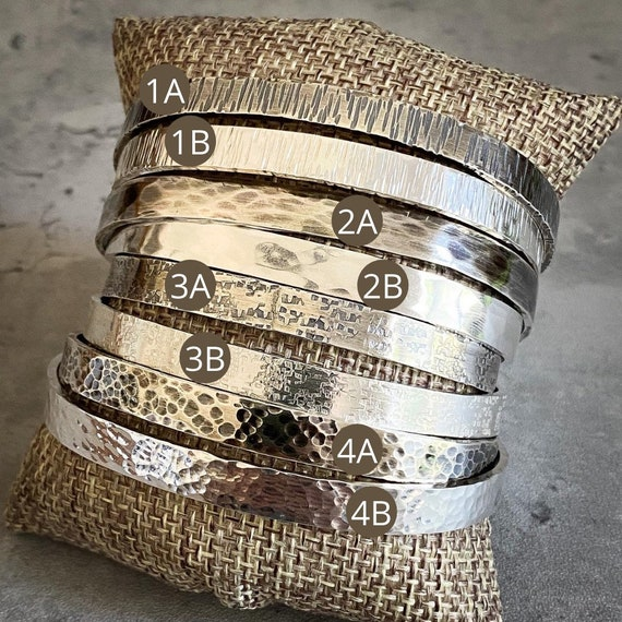 6mm Flat Sterling Silver Cuff Bracelets Made to Order