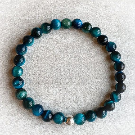 Teal Tiger Eye Bracelet
