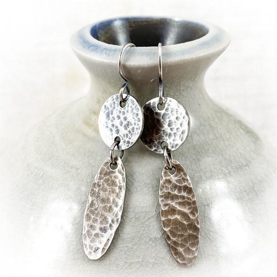 Lunar Earrings (oxidized)