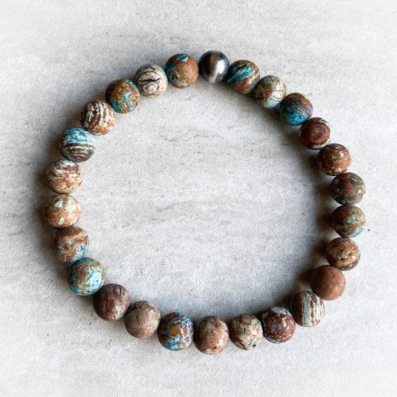 Matte Crazy Lace Agate Bracelet