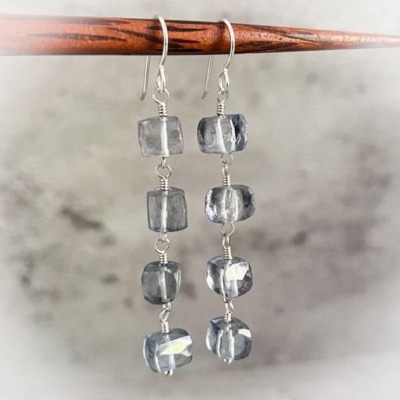 Icy Blue Cascade Earrings