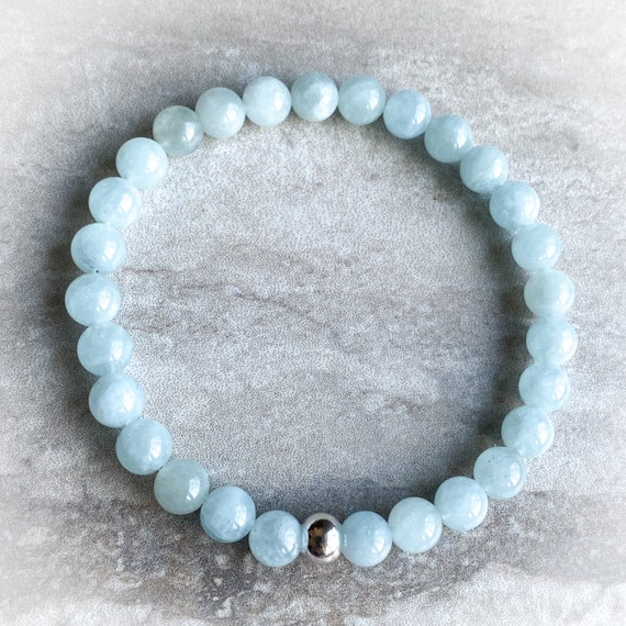 Aquamarine Gemstone Stretch Bracelet
