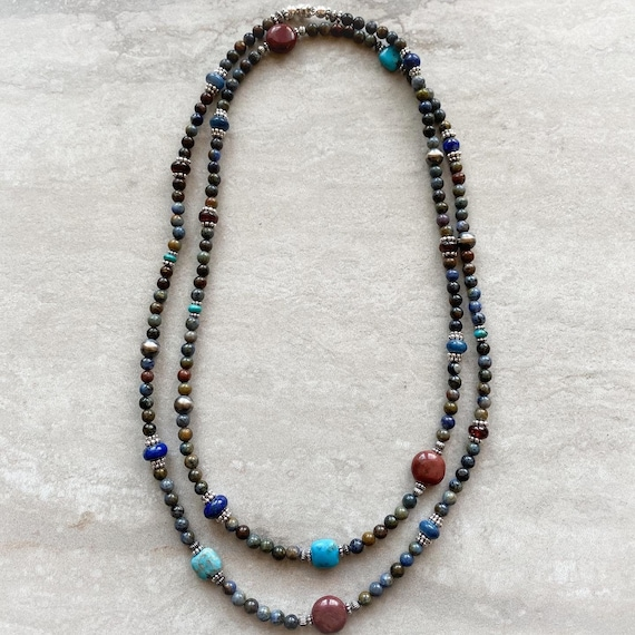 Versatility Necklace: Sunset Dumortierite