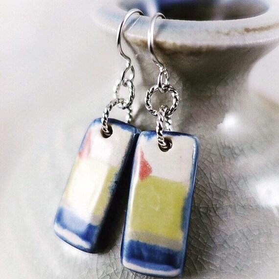 Rothko Inspired - Art Tile Earrings