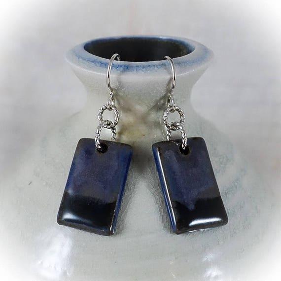 Rothko Inspired - Art Tile Earrings 4