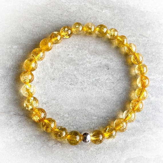 Genuine Citrine Stretch Bracelet