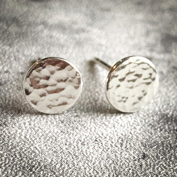 Hammered Sterling Stud Earrings