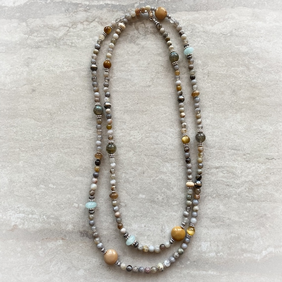 Versatility Necklace: Bamboo Agate