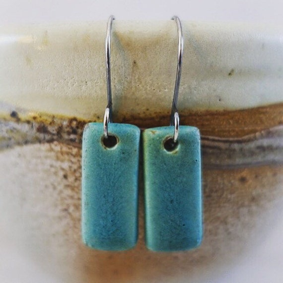 Ceramic Tile Earrings