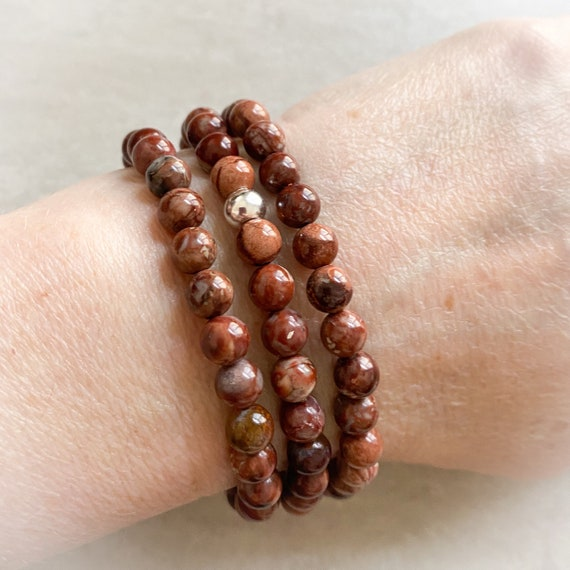 Pomegranate Jasper Stretch Bracelet