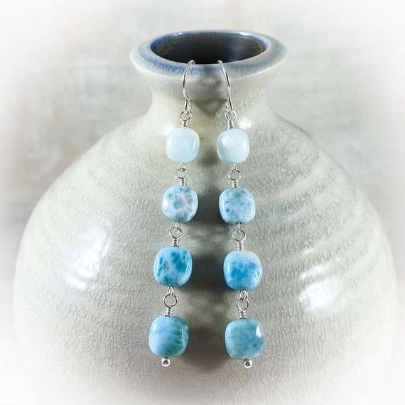 Head In The Clouds Larimar Earrings