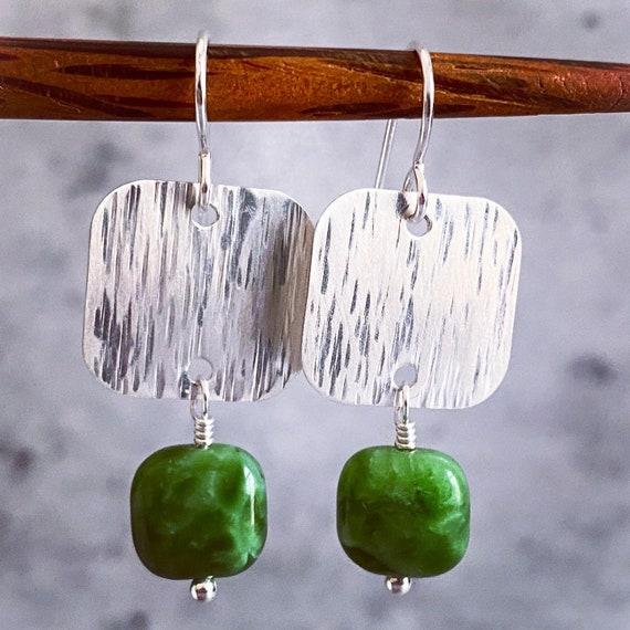 Green Grass Earrings