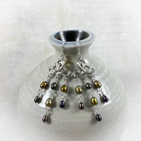 Chandeliearrings in Silver