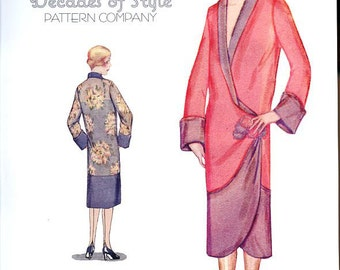 Tulip Kimono 1920  Decades of Style Vintage Style Sewing Pattern