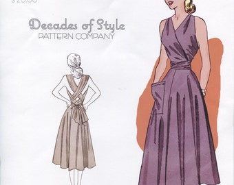 Siren Sundress Sewing Pattern 1948 Decades of Style Vintage Style Sewing Pattern