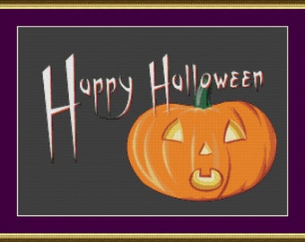 Happy Halloween - Counted Cross Stitch Pattern