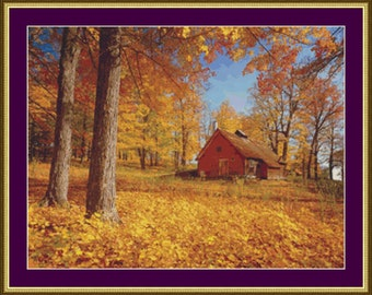 Autumn in New England 3 - Counted Cross Stitch Pattern