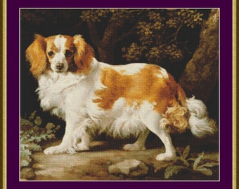 King Charles Spaniel - Counted Cross Stitch Pattern