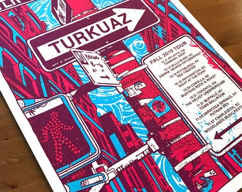 Turkuaz Fall 2019 Life In The City Tour Traffic Sign One Way Crosswalk Gigposter Poster by GIGART