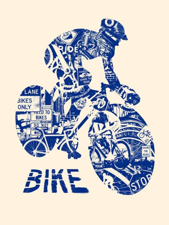 Bicicleta anatomía bicicleta Marina paseo casco carrera   Etsy